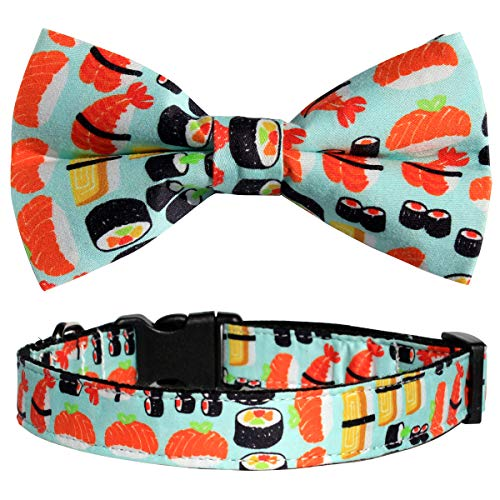 Csspet Sushi Cat and Dog Collar Bow Tie,