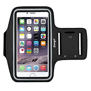 iPhone 6/6S Plus Armband,Nancy's shop Premium Exercise Sports Easy Fitting Slim Scratch-Resistant Running Walking Water Resistant+ Key Holder Slot For iPhone 7 Plus,Galaxy S8 S7 S6 Edge 5.5 Inch