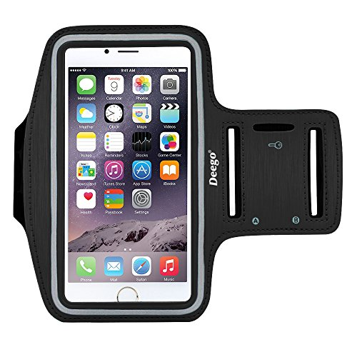 Price comparison product image iPhone 6 Plus , iPhone 6S Plus Armband, Nancy's shop Premium Exercise Sports Easy Fitting Slim Scratch-Resistant Running Walking Water Resistant+ Key Holder Slot For iphone 6 Plus 5.5 Inch