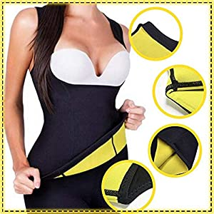 ARAMANTO Women's Hot Sweat Sauna Neoprene Vest Workout Tank Waist Trainer Corset for Weight Loss Body Shaper Compression Trimmer Tummy Fat Burner Shirt Exercising Slimming Top Prime from ARAMANTO