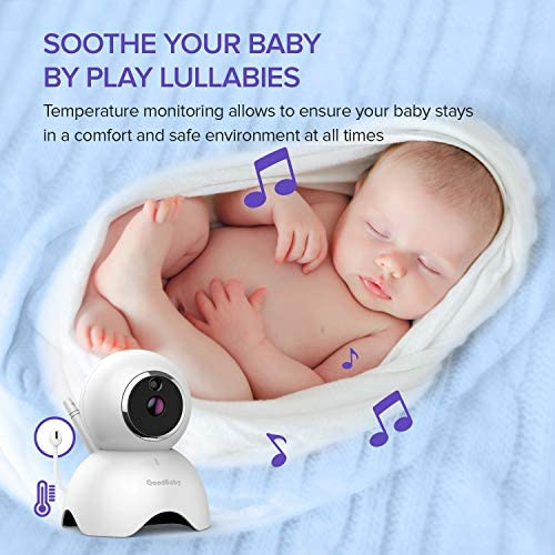 """51CSTogralL. AC - GOODBABY Real 720P 5"""" HD Display Video Baby Monitor With Camera And Audio, Remote Pan&Tilt&Zoom, Two-Way Talk,Temperature Monitor, Night Vision, Lullaby Player, 960ft Range"""