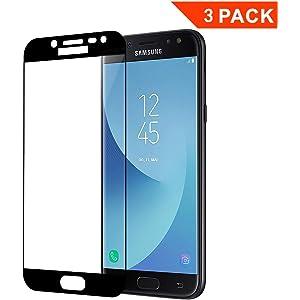 04941937bbb [3 Unidades] Protector de Pantalla para Samsung Galaxy J5 2017, Cristal  Vidrio Templado