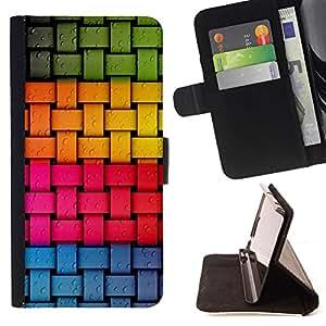 Jordan Colourful Shop - Criss Cross Color pattern For Apple Iphone 6 - < Leather Case Absorci????n cubierta de la caja de alto impacto > -
