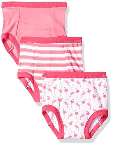 Luvable Friends Baby Cotton Training Pants, Pink Flamingo 3Pk, 3T
