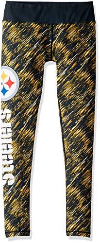 FOCO LEGNFSTRAIN NFL Pittsburgh Steelers Womens Static Rain Leggingsstatic Rain Leggings, Team Color, Medium (Pittsburgh Steelers Rain)