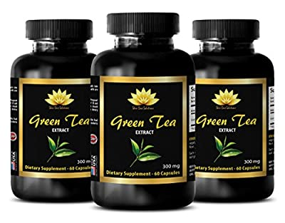 Weight loss pills for women that work fast - GREEN TEA EXTRACT - Green tea extract antioxidant - 3 Bottles 180 Capsules