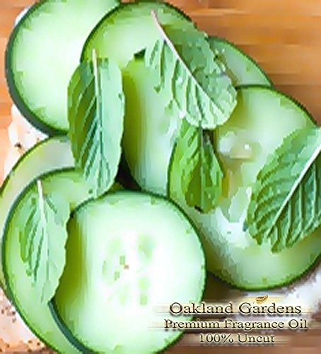 Cucumber Mint Scented Fragrance Oil - Formulated to work with Reed Sticks & Diffuser - By Oakland Gardens (Cucumber Mint - 4oz (Cucumber Mint Candle Scent)