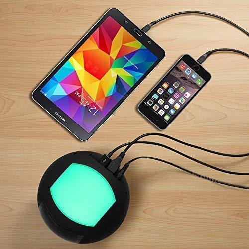 OnLyee Bluetooth Alarm Clock Radio & Wireless Bluetooth Speaker with AM FM,AUX,Dual USB Charging,Multi-Color LED Night Light