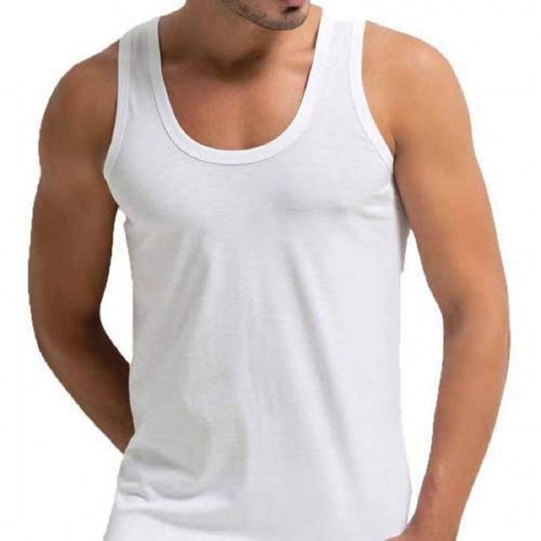 Beylem Mens Vest 100% Cotton Singlet Vests Underwear Pack of 3 Mens Vest