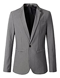 Benibos Mens Casual 1 Button Slim Fit Blazer Jacket