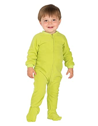 Amazon.com: Footed Pajamas - Lime Green Infant Fleece - Small ...