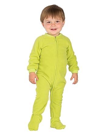 Amazon.com: Footed Pajamas - Lime Green Infant Fleece - Small ...