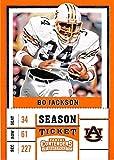 Bo Jackson football card (Auburn Tigers NCAA College) 2017 Contenders Draft Picks Season Ticket #13