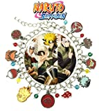 Naruto Shippuden Charm Bracelet Anime Manga Series Jewelry Multi Charms - Wristlet - Outlander Gear Movie Collection