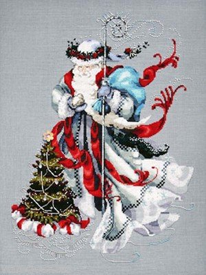 Winter White Santa Cross Stitch Pattern (Santa Cross Stitch Chart)