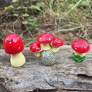 Molinter Mini Decorazione da Giardino a Forma di Fungo Bambola Micro Paesaggio Ornamento in Resina per casa delle Bambole mobili da Giardino Decorazione Giardino 3 Pezzi/Set 3 spesavip