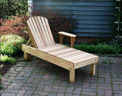 Red Cedar Chaise Lounge Chair - Red Cedar Keystone Chaise Lounge
