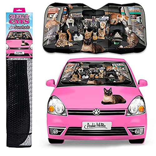 Accoutrements Car Full of Cats: Auto Sunshade -
