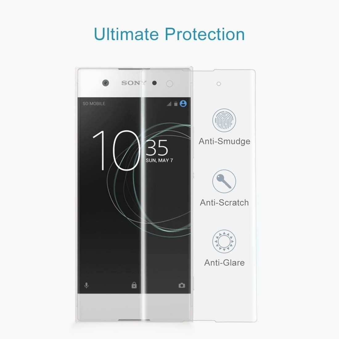 Screen Protector Film 25 PCS for Sony Xperia XA1 0.33mm 9H Surface Hardness 3D Curved Full Screen Tempered Glass Screen Protector Black Tempered Glass Film Color : Black