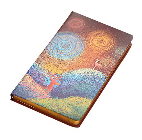 Looking For Deer Under The Starry Sky Series 48K Small Notebook, Two Deer Yellow