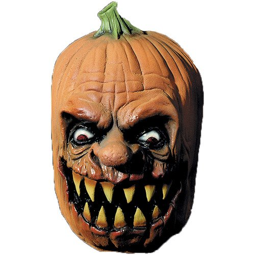 Jack O Lantern Pumpkin Scary Latex Adult Halloween Costume - Jack O-lantern Mask