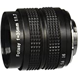 Fotasy M3517 35MM F1.7 TV Movie Fixed Lens and Lens Adapter Kit for Olympus Panasonic MFT Micro 4/3 M43 Cameras
