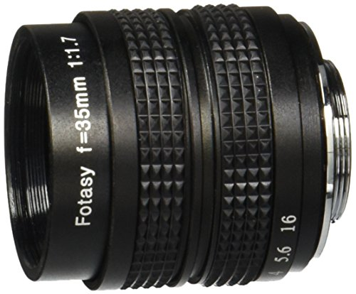 Fotasy M3517 35MM F1.7 TV Movie Fixed Lens and Lens Adapter Kit for Olympus Panasonic MFT Micro 4/3 M43 Cameras 35 Mm Lens Adaptor