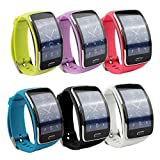 Samsung Galaxy Gear S R750 Smart Watch Replacement Wristband Bracelet/ Free Size Wireless Smartwatch Accessory Band Strap With Secure Buckle (A)