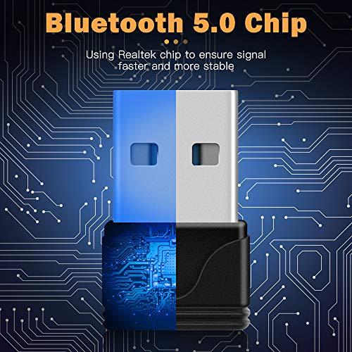 ZEXMTE Bluetooth USB Adapter CSR 5.0 USB Dongle Bluetooth Empfänger Übertragung Wireless Adapter für Computer Bluetooth Kopfhörer Lautsprecher Tastatur Maus Drucker Windows 10/8.1/8/7