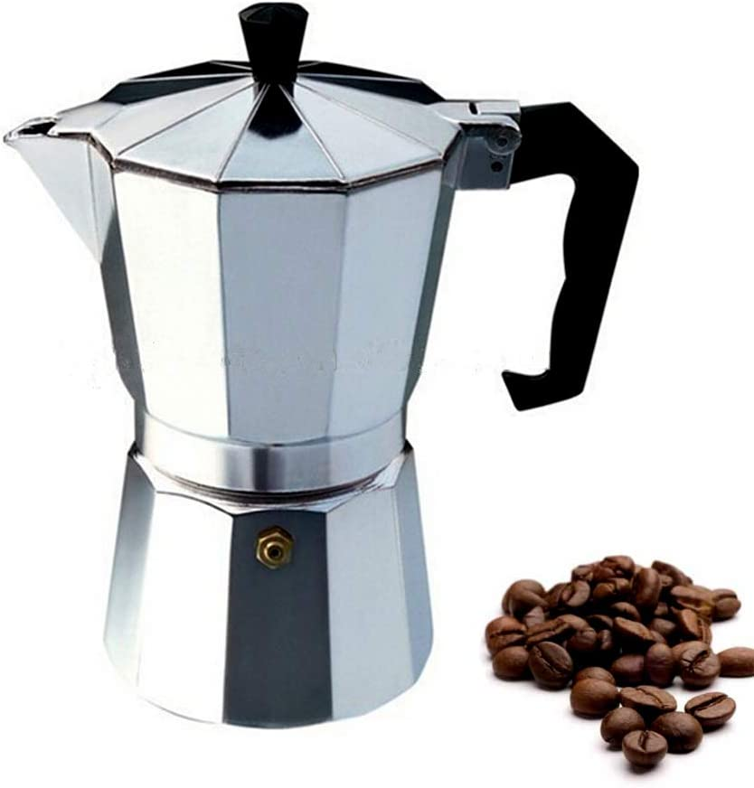 Milky House 3-Cup Stovetop Espresso Maker, Italian Moka Pot Coffee Maker, Cuban Stove top Coffee Maker