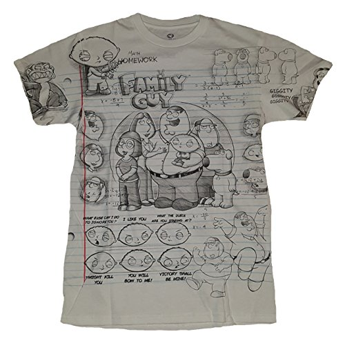 Family Guy Sketch White Graphic T-Shirt