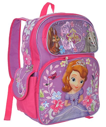 Sofia the First Backpack - Disney Flower Frame Pink New 055577 -