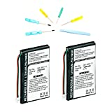 2 Pack of Garmin Nuvi 760 Battery with Tools - Replacement Battery for Garmin GPS System - Lithium Polymer Rechargeable Battery