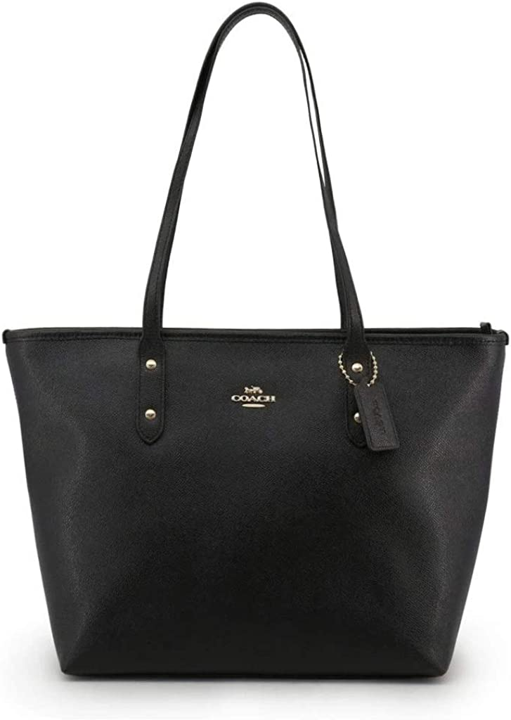 COACH A Crossgrain City Zip Tote w/PVC Bottom