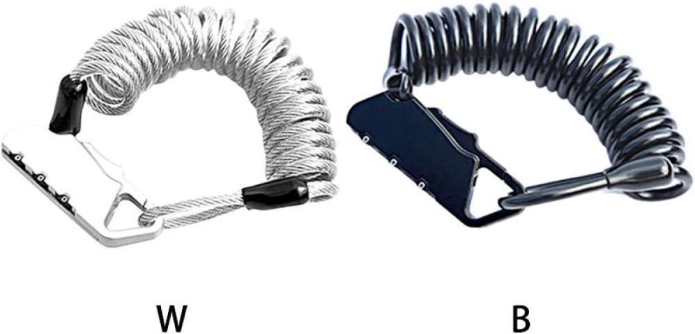 GHFKXTN Mini Cable de Bloqueo de contrase/ña de 3 bits de aleaci/ón de Zinc PVC Alambre de Acero Seguro Protector de Resorte cerraduras de combinaci/ón para Bicicleta Casco Cochecito de beb/é