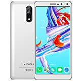 Cell Phone Unlocked, v Mobile N8-N Android Phones International Version, Dual Sim Smartphones with 5.5 inch HD (18:9)|1GB RAM+ 16GB ROM|Android 7.0|5.0 MP+ 8.0 MP|2800 mAh Battery| White
