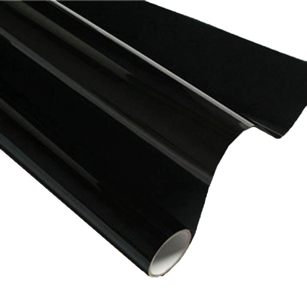 HOHO 19.6'X78.7' Dark Black Window Tinting Kits Car Side Window Sunshade Solar Film Self-Adhesive Block Sun Heat Control