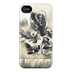 Iphone 4/4s DUw9680TauN Support Personal Customs Trendy St. Louis Rams Pattern Durable Hard Phone Covers -JohnPrimeauMaurice