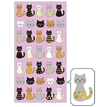 Mind Wave Süße niedliche Katze Tier Muster goldmetallische Sticker ...