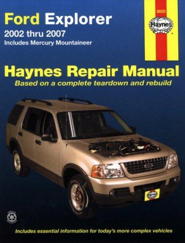 Ford Explorer 2002 thru 2007: Includes Mercury Mountaineer (Haynes Repair Manual) - 2002 Mercury Mountaineer Manual