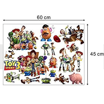 GADFLY Children, Kids, Baby, Nursery's Peal and Stick Wall Decals Stickers (Toy Story 3 Buzz Lightyear): Home & Kitchen