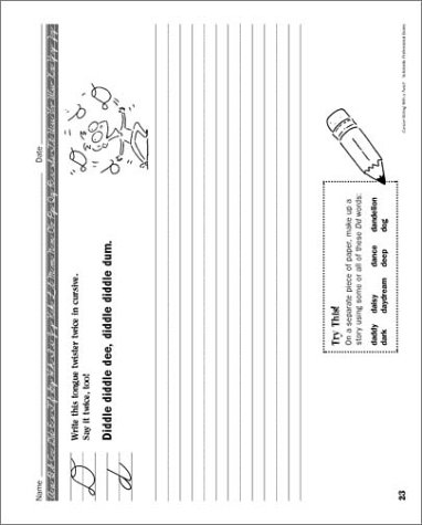 Cursive Writing Practice Pages With A Twist!: Dozens of Super ...