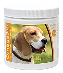 Healthy Breeds 60 Count Omega 3 & 6 Soft Chews for Beagle