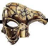 CCUFO Steam Punk Phantom Of The Opera Vintage Gold Mechanical Men Venetian Mask