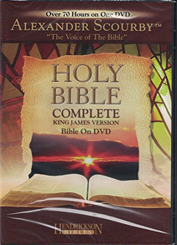 Price comparison product image Holy Bible: Complete King James Version Bible on DVD narrated by Alexander Scourby