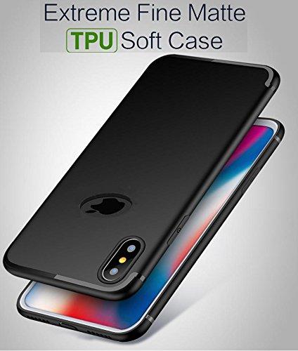 super popular d7f79 096e4 Amozo Baseus Series Anti-Slip Shockproof Slim Back Cover Case for Apple  iPhone X (Black)
