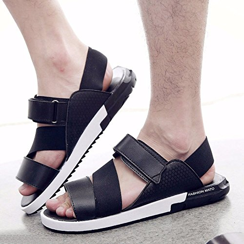 Estate Men Flip flop tendenza uomini sandali summerTrend moda non slip Beach trend Leisure Sandali, nero, UK = 9.5, EU = 44