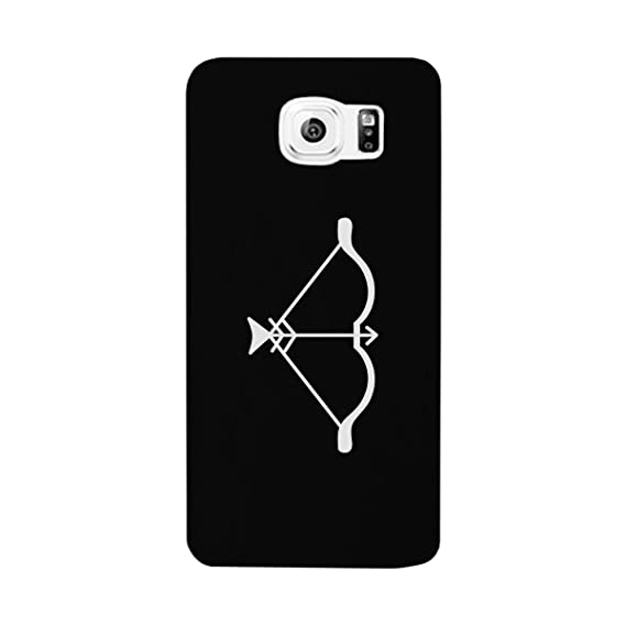 12c7e2504a863 Image Unavailable. Image not available for. Color  365 Printing Bow And Arrow  White Cute Galaxy S6 Case Matching Couples Cover Gift