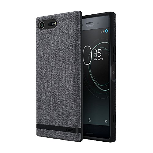Price comparison product image Incipio Carnaby Sony Xperia XZ Premium Case [Esquire Series] with Co-Molded Design and Ultra-Soft Cotton Finish for Sony Xperia XZ Premium - Gray