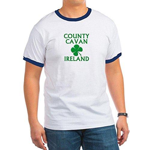 CafePress - County Cavan, Ireland Ringer T - Ringer T-Shirt, 100% Cotton Ringed T-Shirt, Vintage Shirt Navy/White